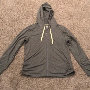 Heathered gray zip up from maurices size XL
